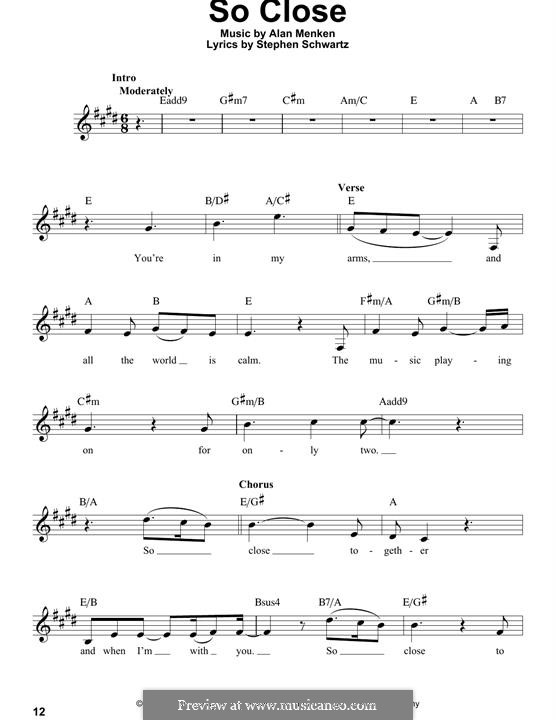 So Close: Мелодия by Alan Menken