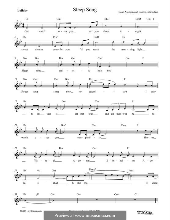 Sleep Song: Мелодия by Noah Aronson