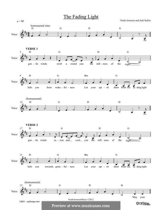 The Fading Light: Мелодия by Noah Aronson