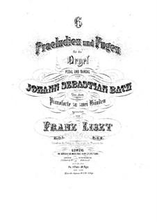 Шесть прелюдий и фуг, BWV 543-548: Тетрадь II. Версия для фортепиано, S.462 by Иоганн Себастьян Бах