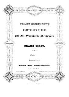 Транскрипции на темы песен Шуберта, S.562: No.1 Литания by Франц Лист