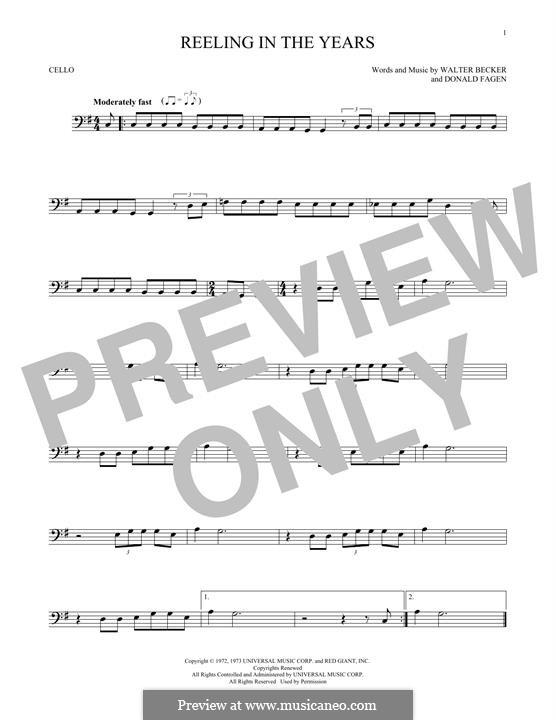 Reelin' in the Years (Steely Dan): Для виолончели by Donald Fagen, Walter Becker