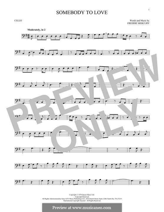 Somebody to Love (Queen): Для виолончели by Freddie Mercury