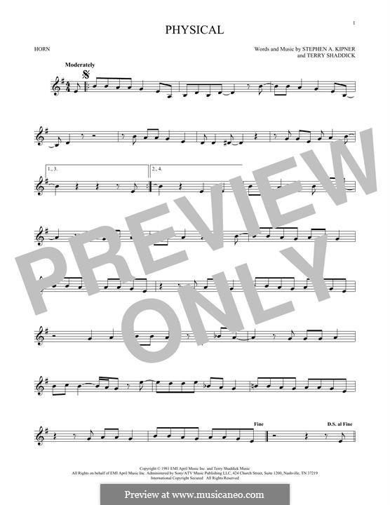 Physical (Olivia Newton-John): For horn by Stephen Alan Kipner, Terry Shaddick