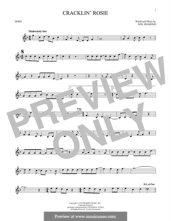 Cracklin' Rosie: For horn by Neil Diamond