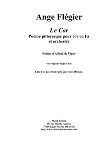 Le Cor: For horn and orchestra by Анж Флегье