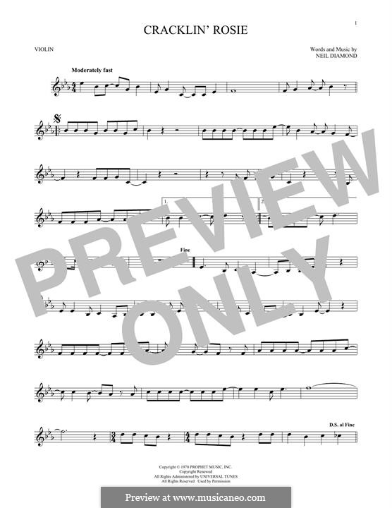 Cracklin' Rosie: Для скрипки by Neil Diamond
