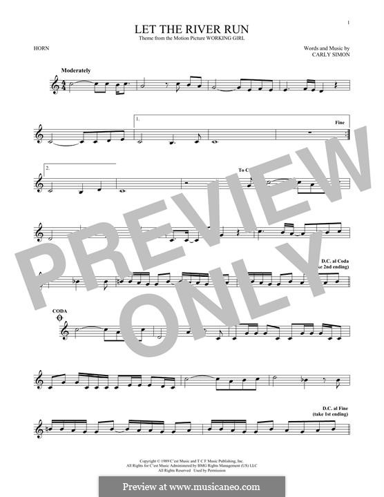 Let the River Run: For horn by Carly Simon