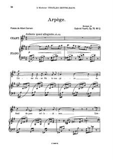 Две песни, Op.76: No.2 Arpège, for medium voice by Габриэль Форе