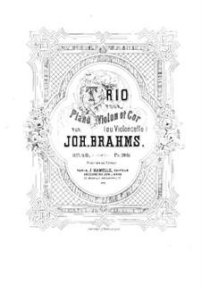 Трио для валторны (или виолончели), скрипки и фортепиано, Op.40: Партитура by Иоганнес Брамс