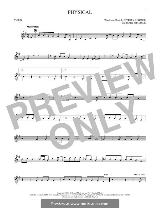 Physical (Olivia Newton-John): Для скрипки by Stephen Alan Kipner, Terry Shaddick