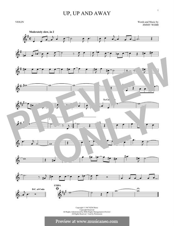 Up, Up and Away (The Fifth Dimension): Для скрипки by Jimmy Webb