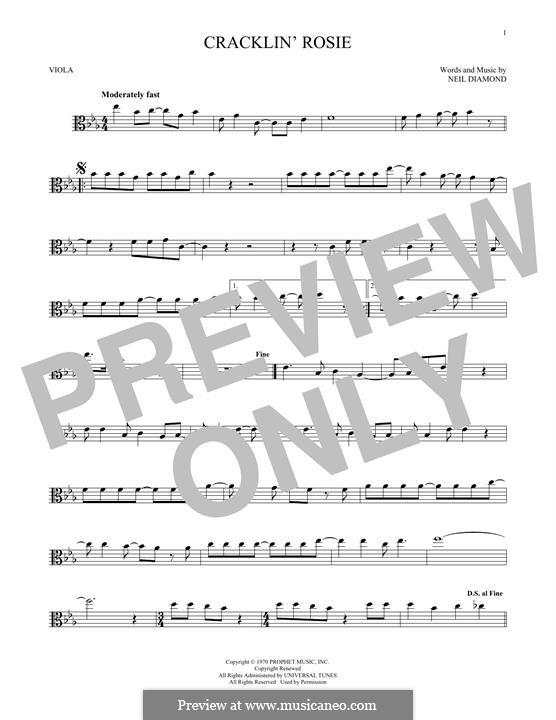 Cracklin' Rosie: For viola by Neil Diamond