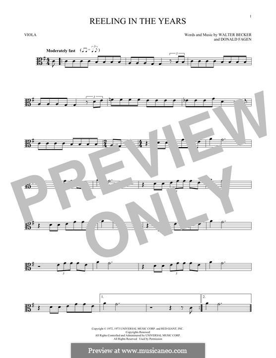 Reelin' in the Years (Steely Dan): For viola by Donald Fagen, Walter Becker