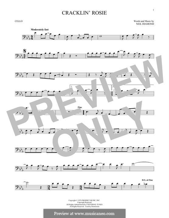 Cracklin' Rosie: Для виолончели by Neil Diamond