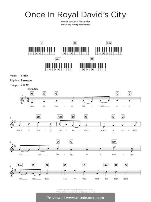 Once in Royal David's City: Для клавишного инструмента by Henry John Gauntlett
