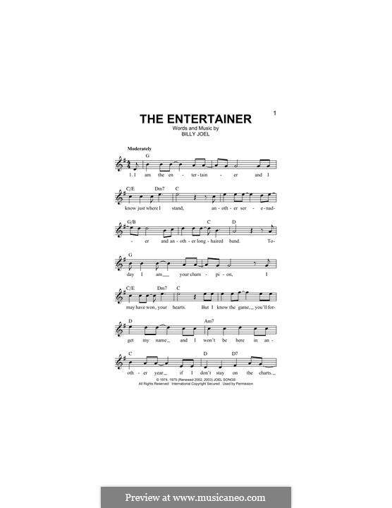 The Entertainer: Мелодия by Billy Joel