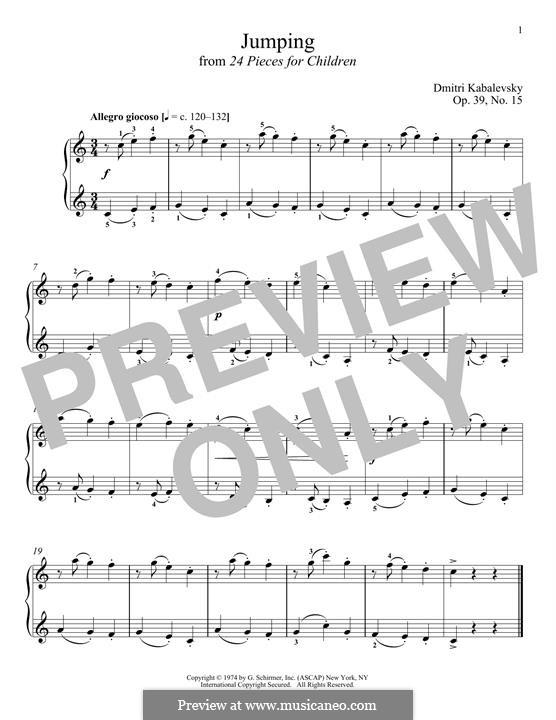 Twenty-Four Easy Pieces, Op.39: No.15 Jumping by Дмитрий Кабалевский