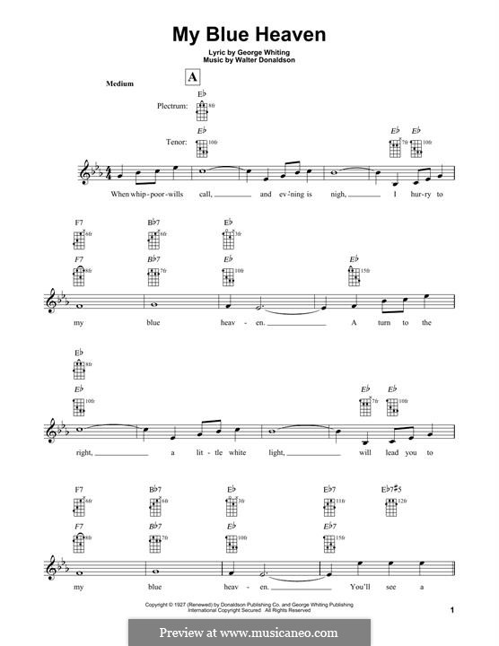 My Blue Heaven: For banjo by Уолтер Дональдсон
