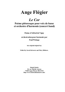 Le Cor: For bass voice and concert band by Анж Флегье