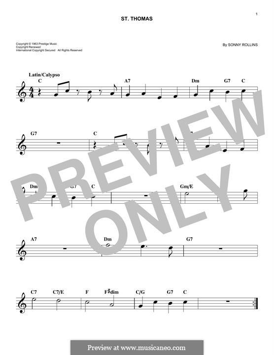 Vocal-instrumental version: Мелодия by Sonny Rollins
