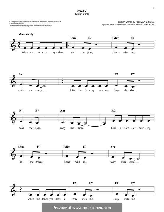 Sway (Quien Sera): Мелодия by Pablo Beltran Ruiz