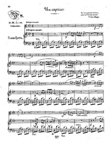 Pensées fugitives, Op.30: Un caprice, for violin and piano by Стефан Геллер, Генрих Вильгельм Эрнст