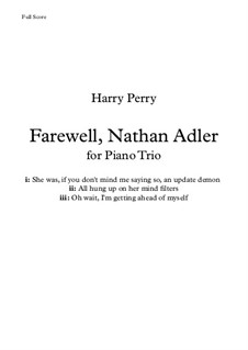 Farewell, Nathan Adler: Farewell, Nathan Adler by Harry Perry
