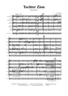 Des Herrn Einzug (Tochter Zion): Для квинтета медных духовых by Георг Фридрих Гендель