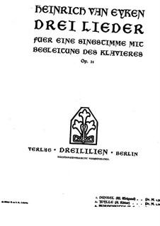 Идиллия для голоса и фортепиано, Op.21 No.2: Идиллия для голоса и фортепиано by Генрих фон Айкен