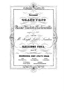 Фортепианное трио No.2 ми минор, Op.12: Партия скрипки by Александр Феска