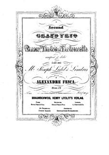 Фортепианное трио No.2 ми минор, Op.12: Партия виолончели by Александр Феска