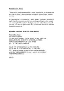 The Rosary (Joyful Mysteries): Для фортепиано by Франц Шуберт, Stephen DeCesare