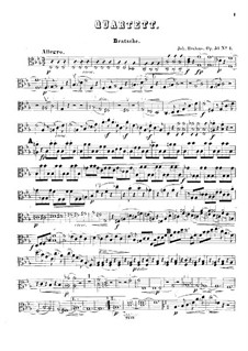 Струнные квартеты No.1-2, Op.51: Партия альта by Иоганнес Брамс