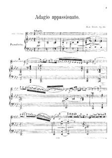 Адажио аппассионато, Op.57: Партитура by Макс Брух