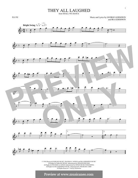 They All Laughed: Для флейты by Джордж Гершвин
