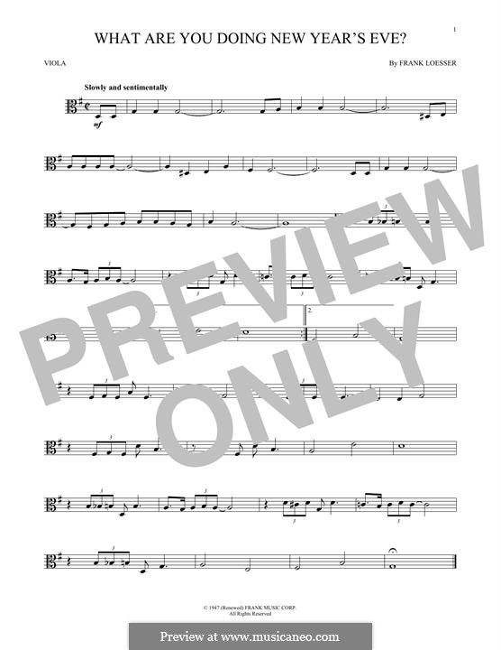 What are You Doing New Year's Eve?: For viola by Frank Loesser