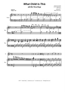 What Child is This with We Three Kings: Duet for flute and Bb-clarinet by Unknown (works before 1850), John H. Hopkins Jr.