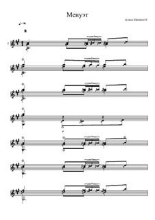 Менуэт ля мажор для гитары соло: Менуэт ля мажор для гитары соло by Константин Щеницын