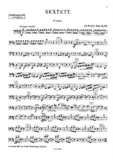 Струнный секстет ре мажор, Op.40: Партия виолончели by Ян Брандс-Бёйс