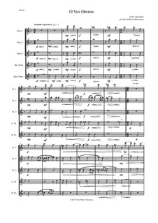 O Vos Omnes: For flute quintet by Карло Джезуальдо