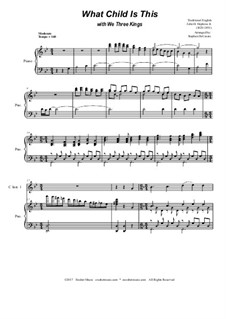 What Child is This with We Three Kings: Duet for C-instruments by Unknown (works before 1850), John H. Hopkins Jr.