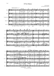 O Vos Omnes: For wind quintet by Карло Джезуальдо