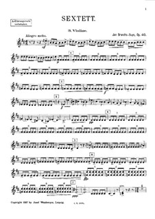 Струнный секстет ре мажор, Op.40: Партия III скрипки by Ян Брандс-Бёйс