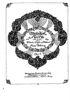 Мелодическая сюита ля минор для фортепиано, скрипки и виолончели, Op.9: Партитура by Аксель Хейне