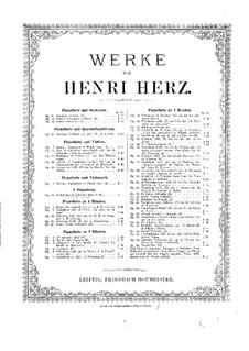 Вариации и блестящее рондо, Op.16: Партия I фортепиано by Анри Герц