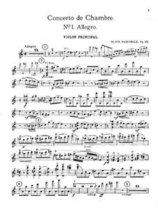 Камерный концерт, Op.26: Скрипка - сольная партия by Блэр Фэйрчайлд