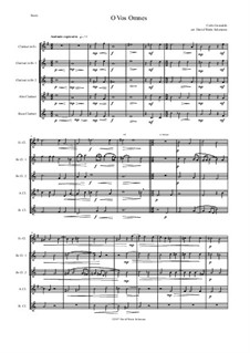 O Vos Omnes: For clarinet quintet (1 E flat, 2 B flats, 1 alto and 1 bass) by Карло Джезуальдо