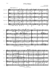 O Vos Omnes: For clarinet quintet (4 B flats and 1 bass) by Карло Джезуальдо