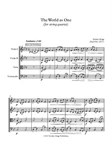 The World as One (for string quartet): The World as One (for string quartet) by William Howard Doane, H. Ernest Nichol, Folliott Sandford Pierpoint